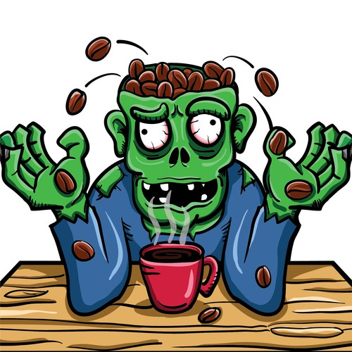 Illustration-logo Zombie Koffee