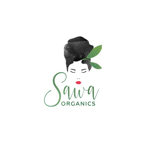 Watercolor Logo for the Matcha Tea