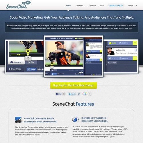 SceneChat needs a new website design