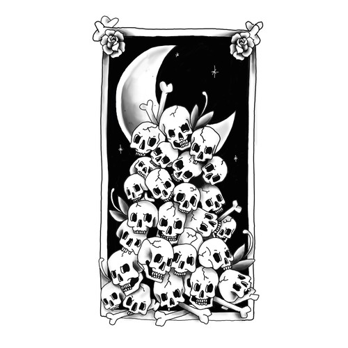 Tatto skulls illustration
