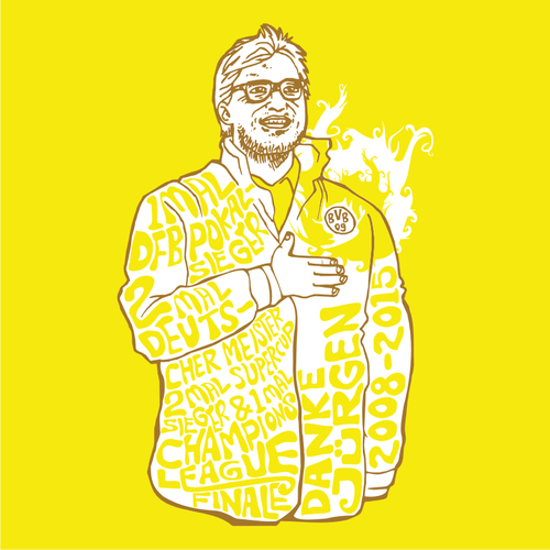 99designs Community Contest! Create a great Thank You illustration for the one and only Jürgen Klopp