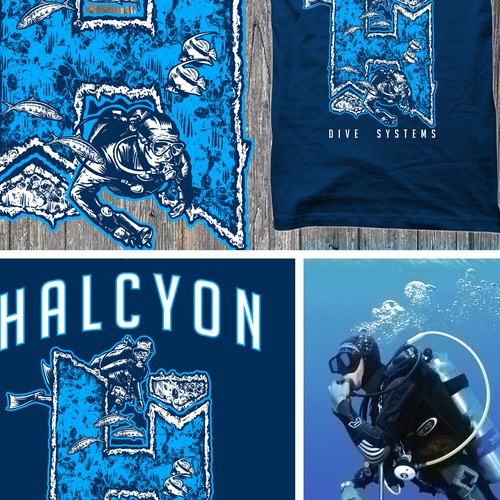 Diving T-Shirt design.