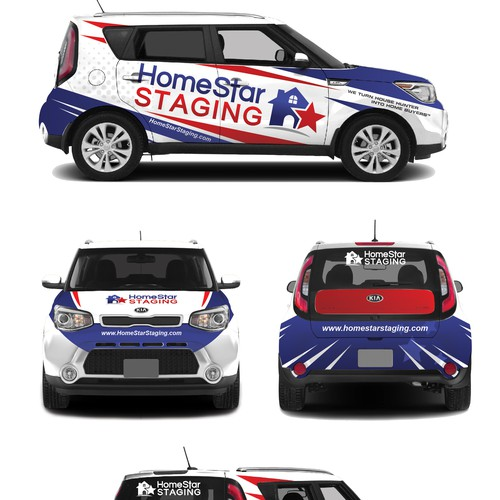 car wrap for home star staging