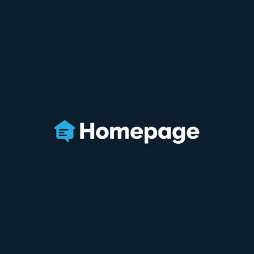 Homepage Logo Design Concept