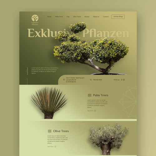 Eye-catching modern design for Exclusive plant shop