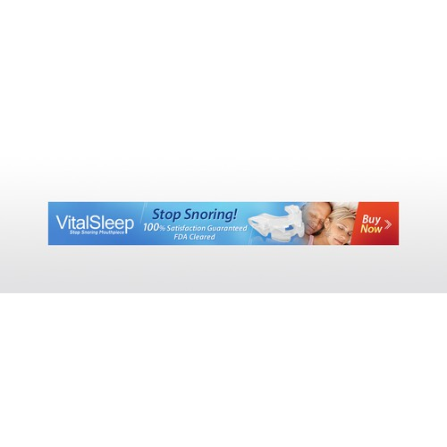 VitalSleep FDA Cleared Anti Snoring Mouthpiece Banner ADs
