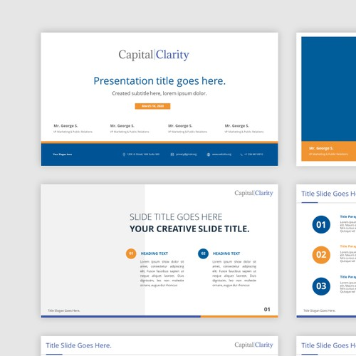 Powerpoint template for Capital Clarity