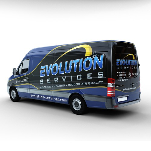 Evolution Services Van Wrap