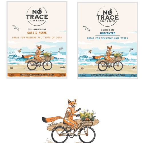 Shampoo bar labels for No Trace