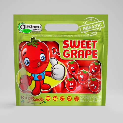 sweet grape packaging.