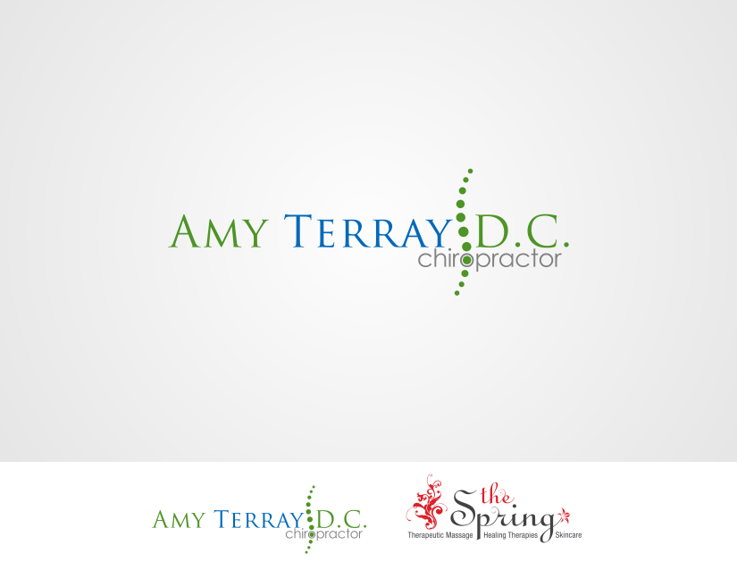 Create the next logo for Amy Terray, D.C., Chiropractor