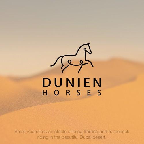 Bold logo design for Dunien Horses