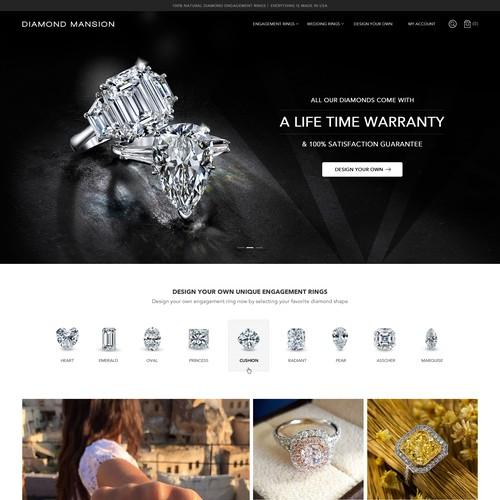 Customized Engagement Ring E commerce Revamp