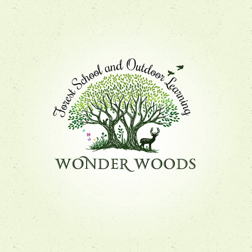 Logo for wonder woods