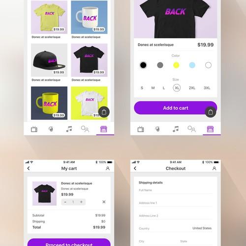 UI for App based on 80-90s