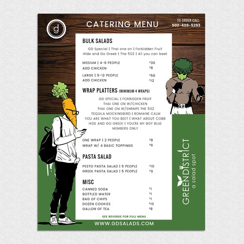 Cutting Edge Menu for Healthy Eatery