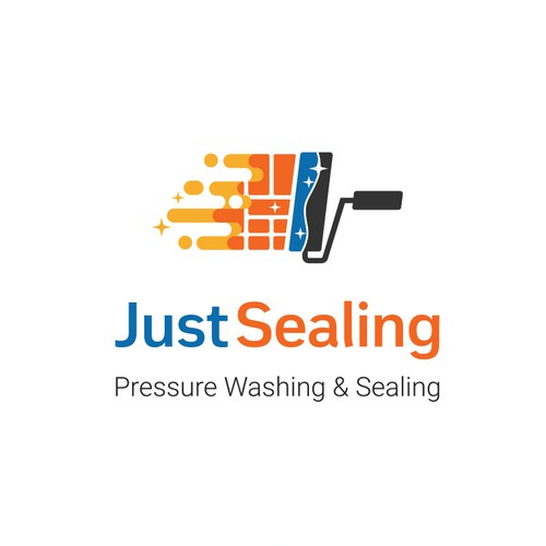 Logo for pressure washing and sealing services company
