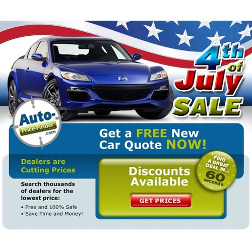4th of July Automotive Banner Ad!