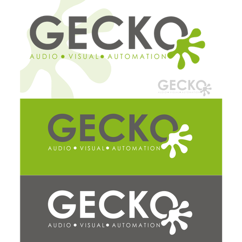 GECKO  - Logo design.  Quirky, simple, sophisticated.  AV INSTALL COMPANY