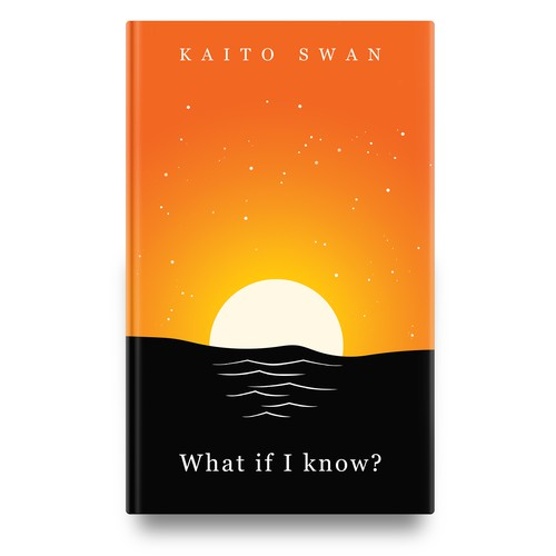 Simple, clean book cover with beautiful sunset