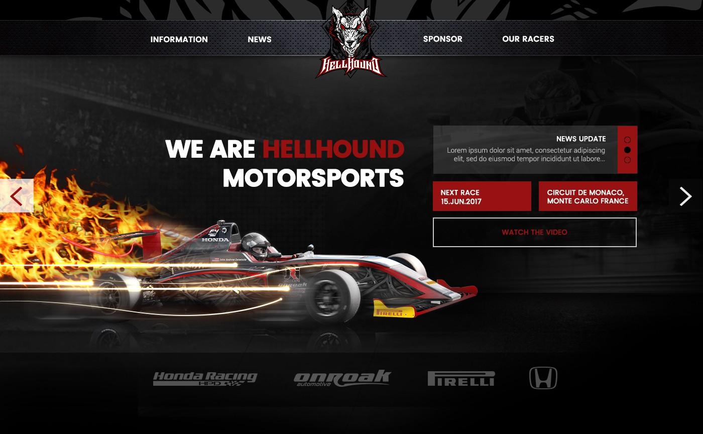 HellHound Motorsports website design