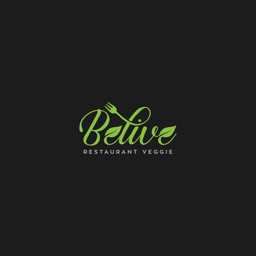 Logo concept for Veggie Restaurant