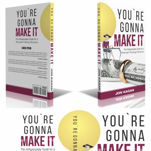 """Create a cover for my book, """"You're Gonna Make It:The Indispensable Guide For a Woman Facing Divorce"""
