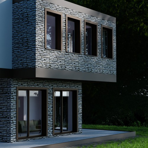 3D render for a residential building