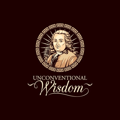 a logo for philosophy, politics, and economics podcast