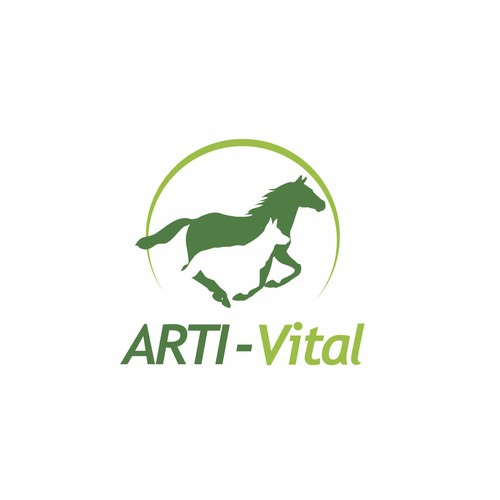 Logo for high-quality feed supplement for horses and dogs