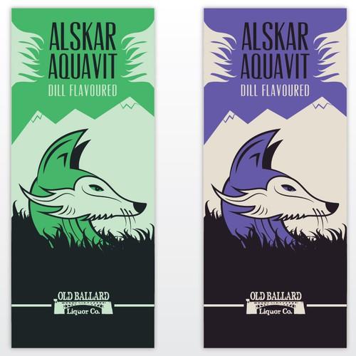 Design amazing label for Aquavit liquor bottle