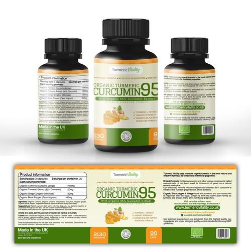 Organic Turmeric Curcumin 95