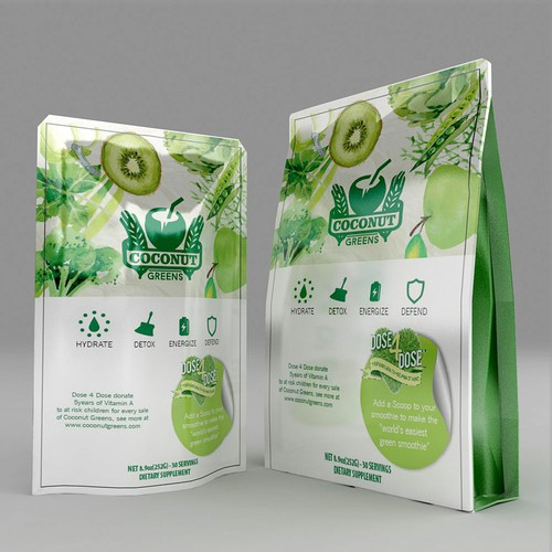 new packaging and label for Coconut Greens