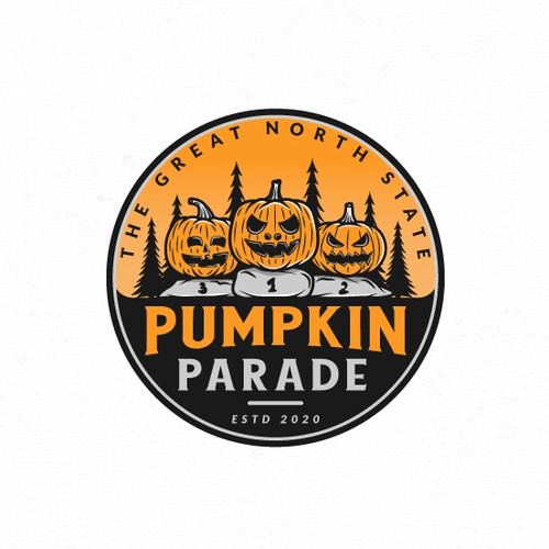 Logo design for The Great North State Pumpkin Parade