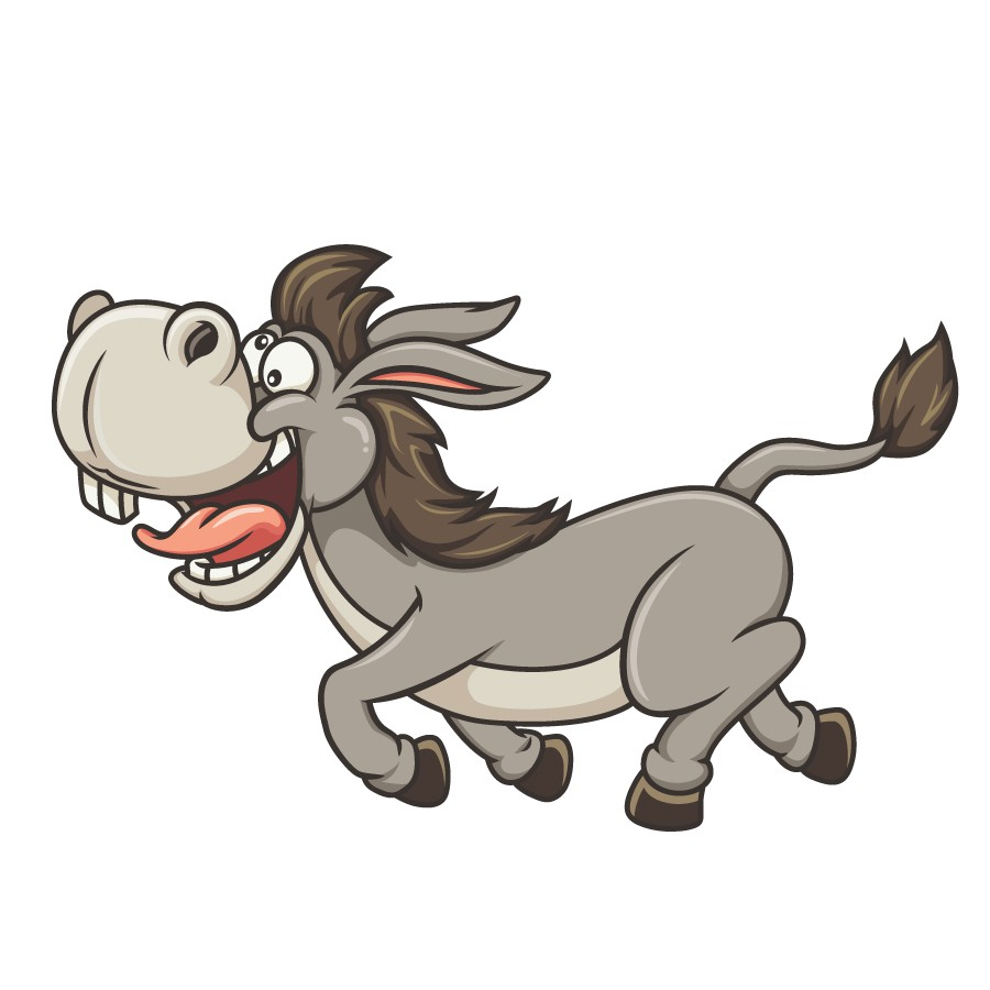 Pure Donkey Illustration for 13 year kid starting his T-shirt Business