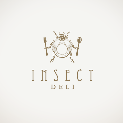 Logo for edible insects e-commerce Insect Deli