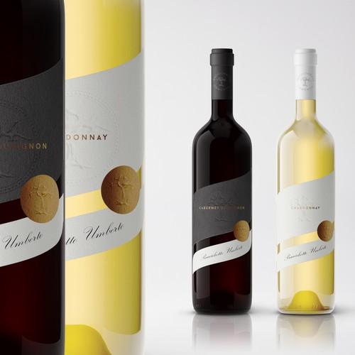 Brand-new wine label