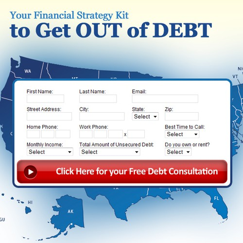 Basic one page website for debt lead generation