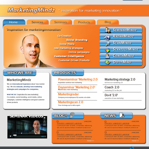 'MarketingMindz' webdesign