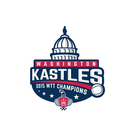 A championship logo for washington kastles