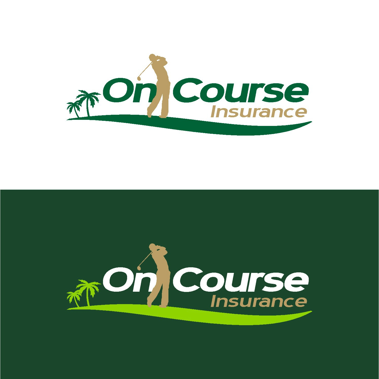 On Course Insurance needs a new logo
