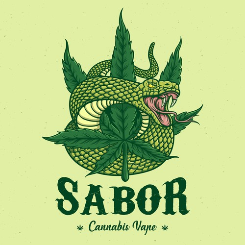 Logo design for Sabor (Cannabis Vape)
