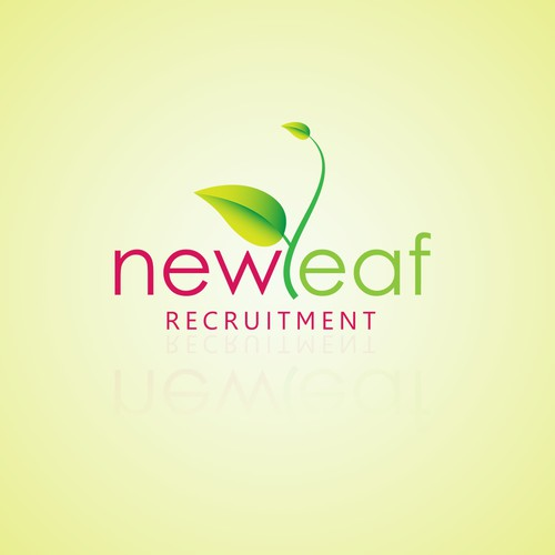 leaf Logo concept for Newleaf recruitment