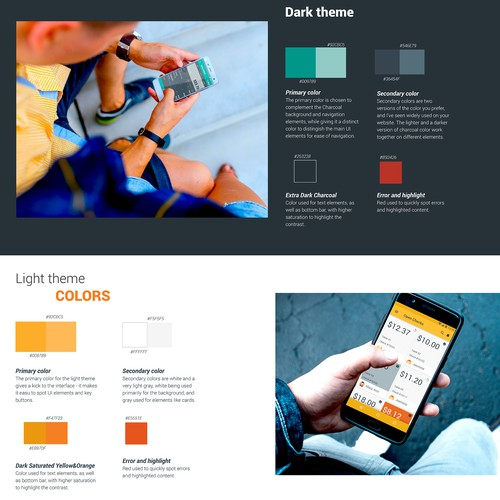 Design for a credit card payment app