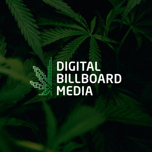 Digital Billboard Media Logo Concept