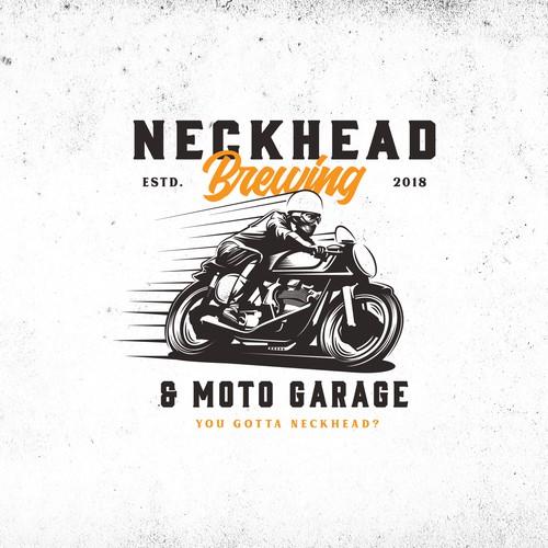 concept logo for neckhead brewing