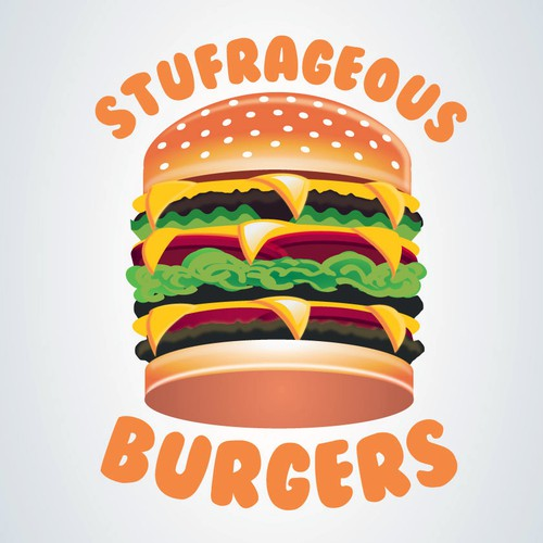 Bold logo for burgers