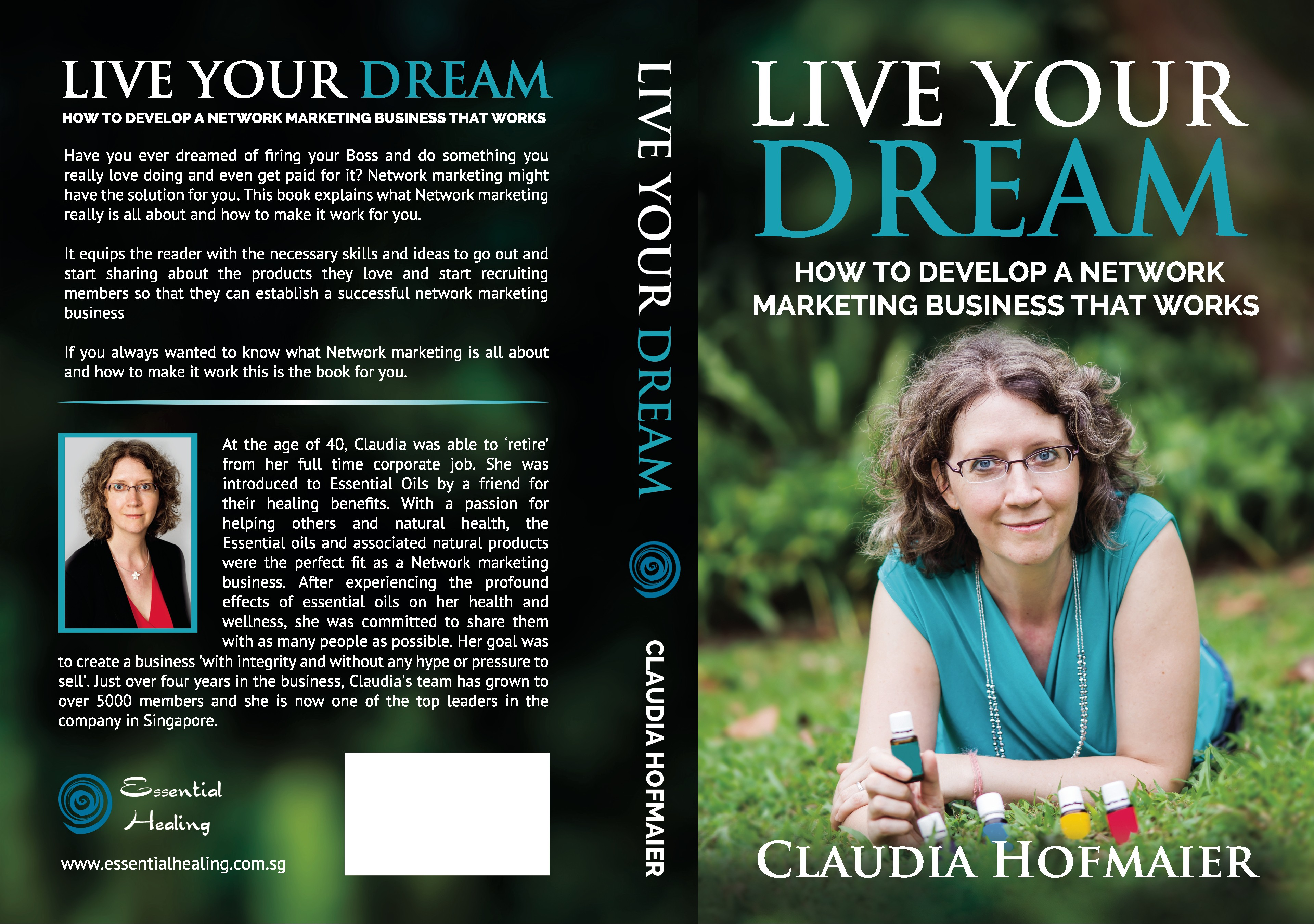 "create a book cover for ""Live your dream"""