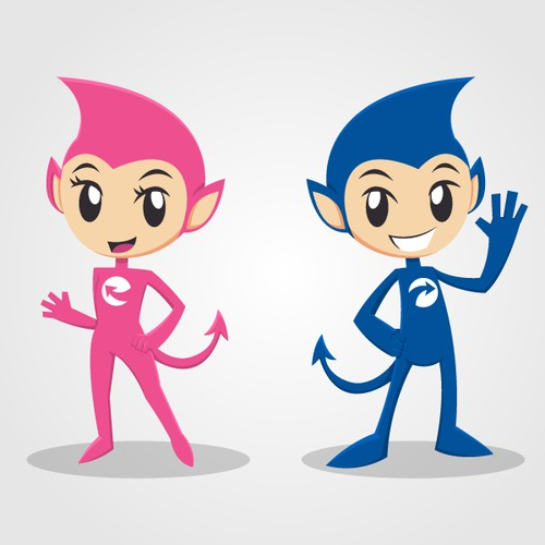 Create a Mascot for an Internet company focused around the 16-30 year old demographic