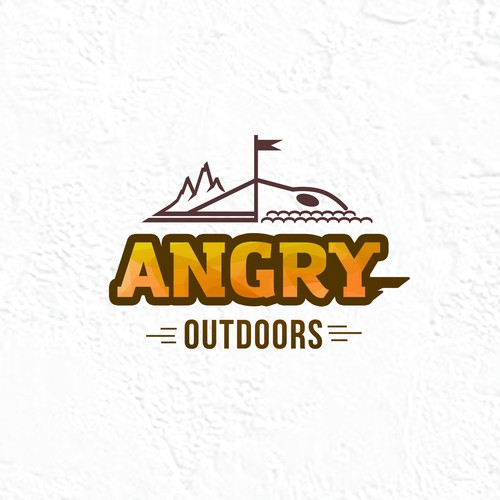 Illustrate a combination of summer & winter outdoor recreational activities for Angry Outdoors